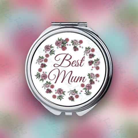'Best Mum' Pocket Mirror