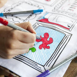 Doodle Placemats with Wash Out Pens                (Set of four)