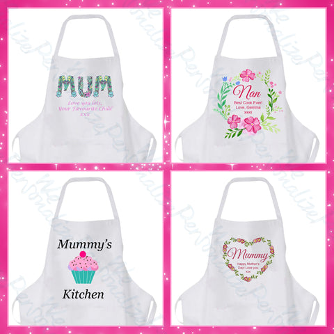 Personalised Mother's Day Aprons