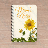 'Mum's Notes' Personalised Floral Notebook