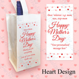 Personalised Heart Design Wine Bottle Bag