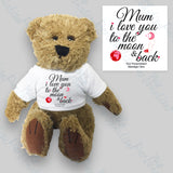 'Mum, I love you to the Moon & Back' Teddy Bear
