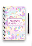 Personalised Unicorn Patterned Notebook