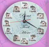 Personalised 12 Picture Clock for Baby's First Year