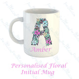 Personalised Floral Alphabet Mug
