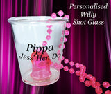 Personalised Willy Shot Glass
