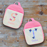 Personalised Watercolour Letter Lunch Bag