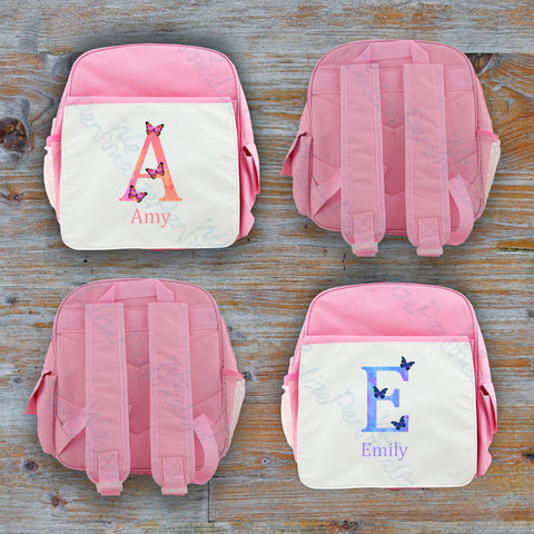 Personalised Watercolour Letter Backpack