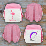Personalised Flamingo/Unicorn Backpack