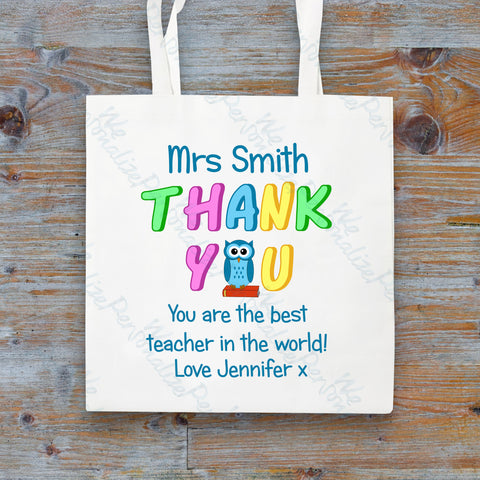 Personalised Tote Bag for Teacher
