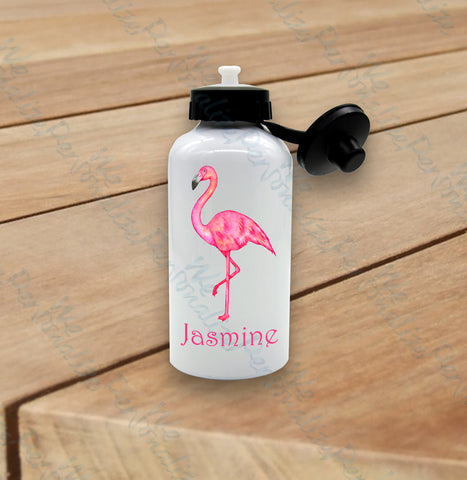 Personalised Flamingo Water Bottle