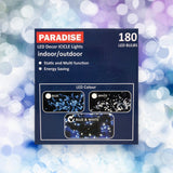 180 LED Decor ICICLE Lights Blue & white