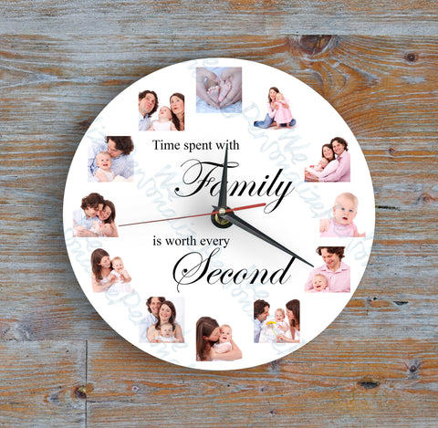 Personalised 12 Picture Clock