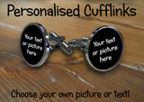 Personalised Circle Cufflinks