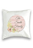 Floral Stripe Collection Cushion Cover