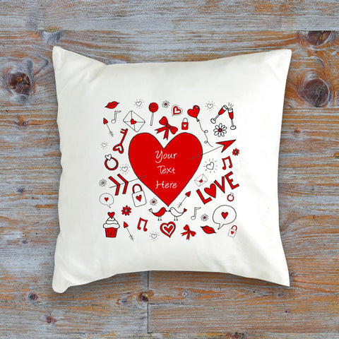 Personalised Doodle Cushion Cover