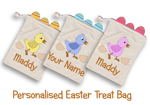 Pack of 6 personalised Easter Treat Bag-Drawstring Bag