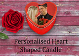 Personalised Heart Candle