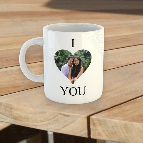 Personalised 'I love you' Photo Mug