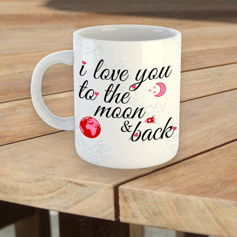 'I love you to the Moon & back' Mug