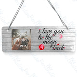 'I love you to the Moon & back' Personalised Plaque