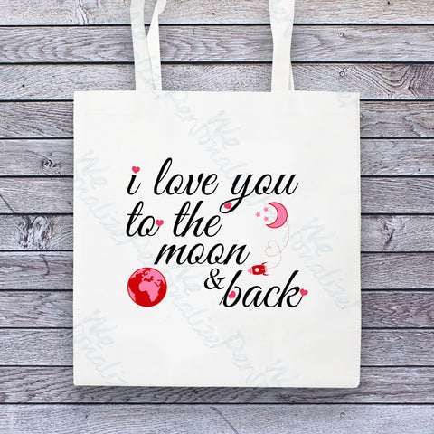 'I love you to the Moon & back' Tote Bag