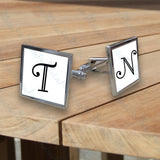 Personalised Initial Square Cufflinks