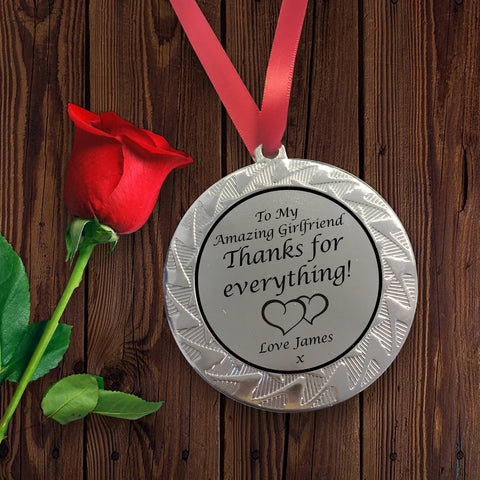 Personalised Medal for Girlfriend