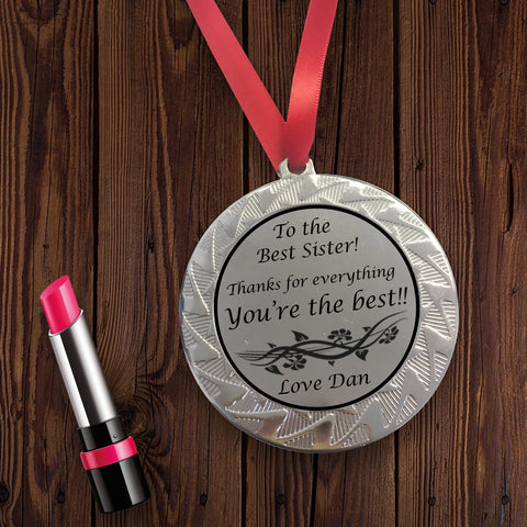 Personalised Medal for Sister
