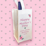 Personalised Wine Bottle Bag for Mother's Day