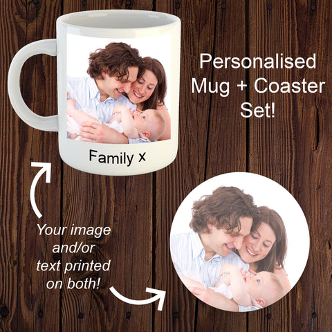 Personalised Mug + Coaster Set