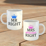 Set of 2 Mr & Mrs Mugs