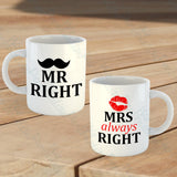 Set of 2 Mr/Mrs Mugs