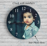 Personalised Clock with Numbers