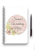Floral Stripe Collection Notebook