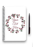 Rose Wreath Collection Notebook