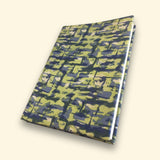 Blue and Green Sari Handmade Paper Journal