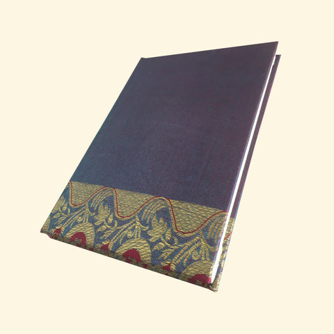 Blue & Purple Sari Handmade Paper Journal