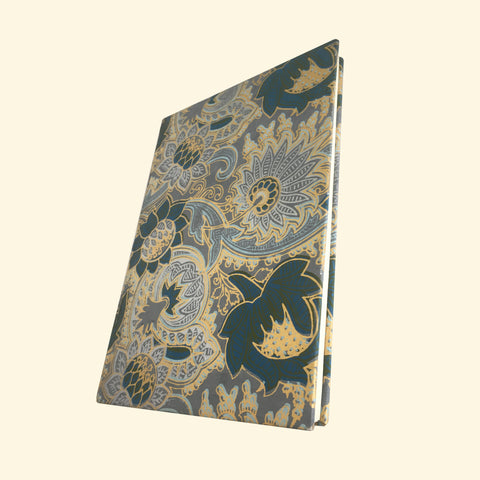 Blue & Yellow Sari Handmade Paper Journal