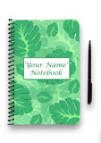 Personalised Leaf Patterned Notebook