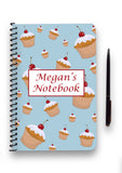 Personalised Cupcake Patterned Notebook