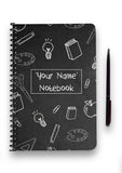 Personalised Chalkboard Patterned Notebook