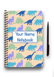 Personalised Dinosaur Patterned Notebook