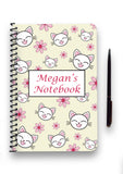 Personalised Cat Patterned Notebook