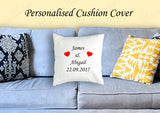 Personalised Square Cushion Cover