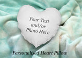 Personalised Heart Shape Cushion Cover