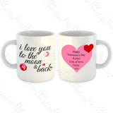 'I love you to the Moon & back' Personalised Mug