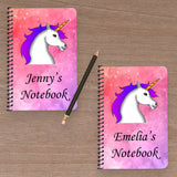 Set of 2 Personalised Notebooks (Flamingo + Unicorn)