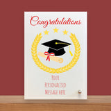 Personalised Congratulations Glass Plaque