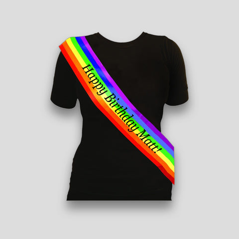 Personalised Rainbow Sash